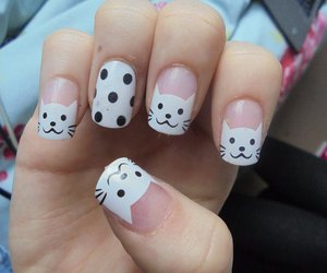 cats, nails, and fashion image