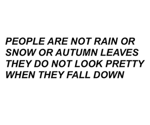 quotes, fall, and people image