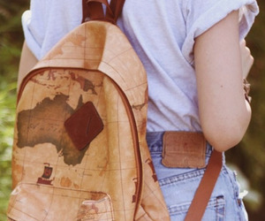 bag, vintage, and map image
