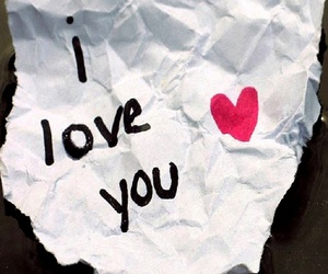 love, I Love You, and Paper image