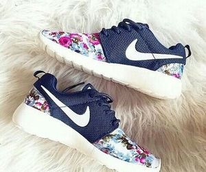 floral, nike, and fashion image