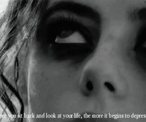 depressed, quote, and skins image