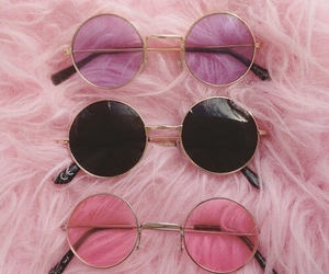 pink, sunglasses, and glasses image