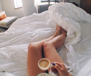 bed, legs, and summer image