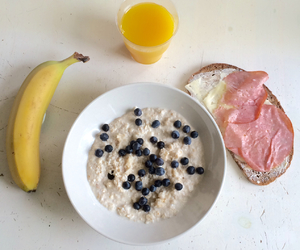 banana, breakfast, and delicious image