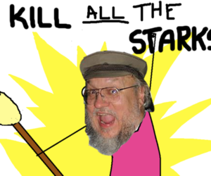 stark, game of thrones, and grrm image