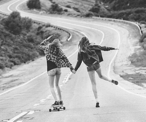 black and white, style, and friends image