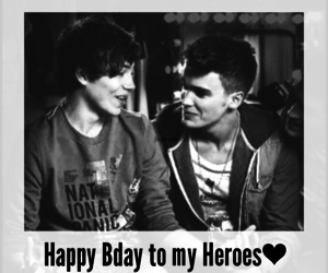 george shelley and gosh cuthley happy bday image
