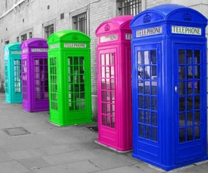 telephone, london, and colors image