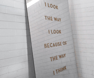 quotes, mirror, and look image