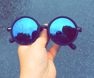 blue, harry potter, and sunglasses image
