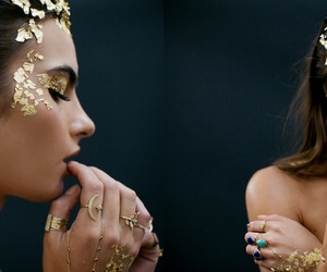 gold fasion editorial image