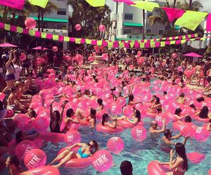 summer, party, and pink image
