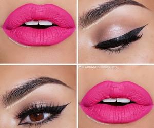 pink, lips, and makeup image