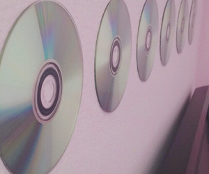 pink, cd, and pale image