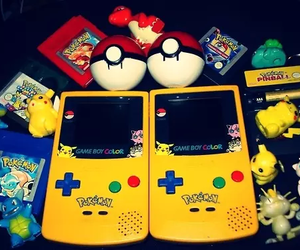 pokemon, pikachu, and gameboy image