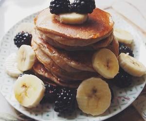 pancakes, banana, and food image