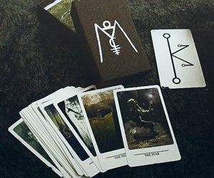 cards, magic, and tarot image