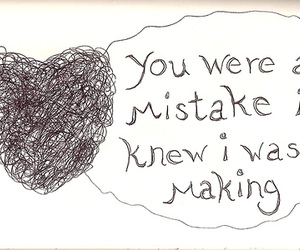 mistakes, love, and quote image