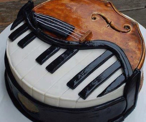 art, cake, and music image