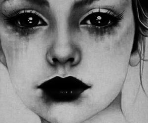 eyes, sad, and black image