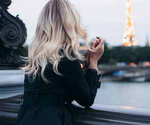 hair, paris, and blonde image