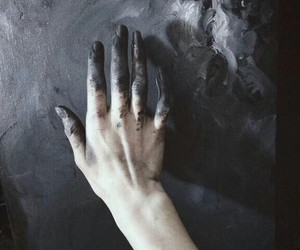 black, hand, and art image