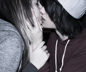 couple, girl, and kiss image