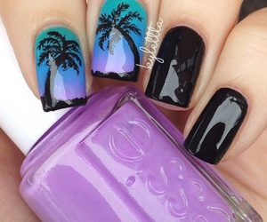 black, exotic, and palms image