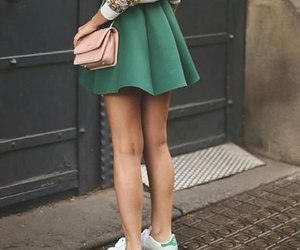 girl, skirt, and outfit image