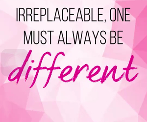 quote, different, and pink image