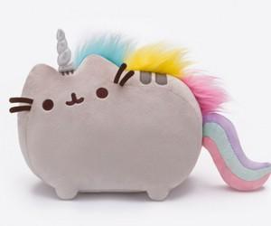 cat, fantasy, and rainbow image