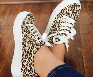 converse, fashion, and leopard image