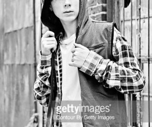 black and white, chandler riggs, and boy image