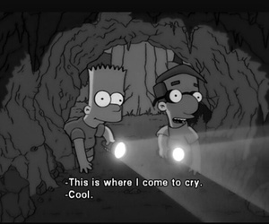cry, bart, and grunge image