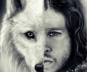 ghost, kit harington, and game of thrones image