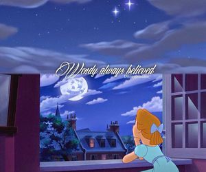 wendy, disney, and neverland image