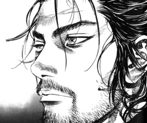 black and white, Miyamoto Musashi, and monochrome image