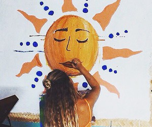 summer, sun, and girl image