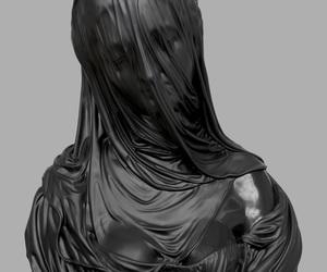 art, black, and sculpture image