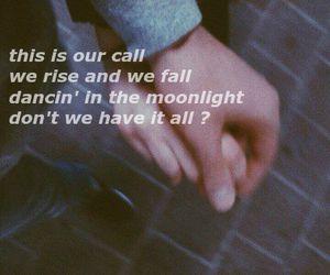 grunge, Lyrics, and moonlight image