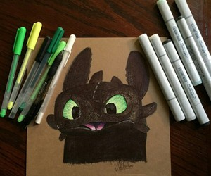 art, dragon, and toothless image