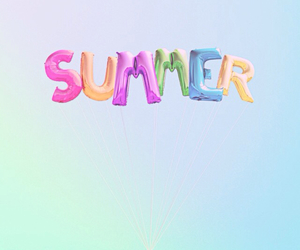 summer, balloons, and blue image