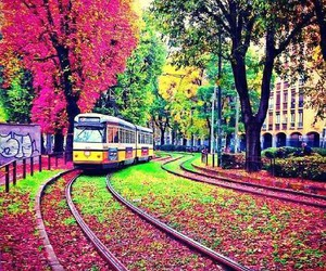 colors, places, and train image