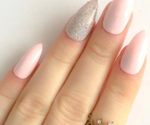 pink nails and stiletto nails image