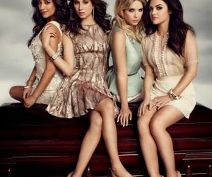 lucy hale, sasha pieterse, and spencer hastings image