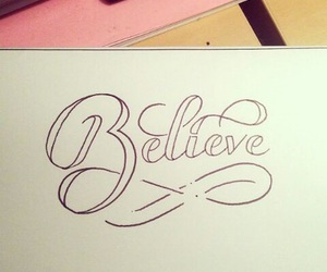 believe, trust, and lettering image