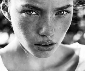beauty, eyes, and face image