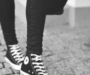 converse, black, and shoes image