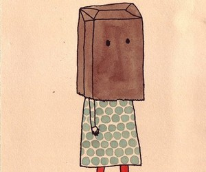girl and paper bag image